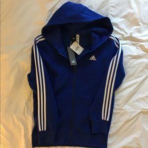 Adidas Classic 3 Stripe hoodie